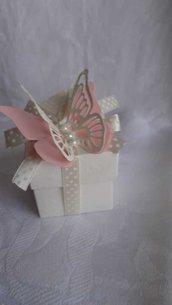 Scatole bomboniere  5 x 5 con farfalle per qualsiasi evento