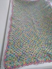 """Copertina """"Alice"""" multicolore in cotone per lettino"""