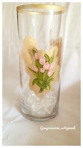 Vaso decorativo portafiori in vetro