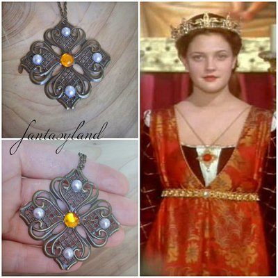 collana ciondolo cinderella cenerentola principessa film Ever after vintage regalo