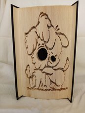 Libro con cagnolini coccolosi realizzati in book folding
