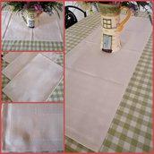 Runner  cm 40x110 con banda trico avorio