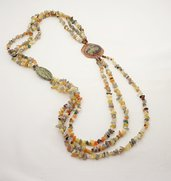 collana lunga multifilo pietre dure diaspro verde pietre gioielli regalo importante per lei