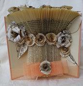 Libro vaso di fiori spartiti musicali, tecnica book folding