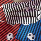 Mascherina chirurgica lavabile con tasca per filtro, mascherine lavabili calcio, squadre di calcio tifosi