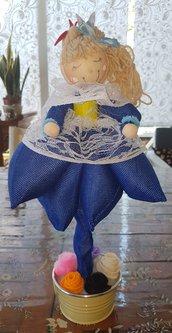 Bambola La regina blu
