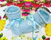 Stivaletti  scarpine crochet neonato bebè  COTONE 100%