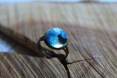 anello onda blu