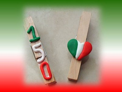 Molletta fermacarte Italia