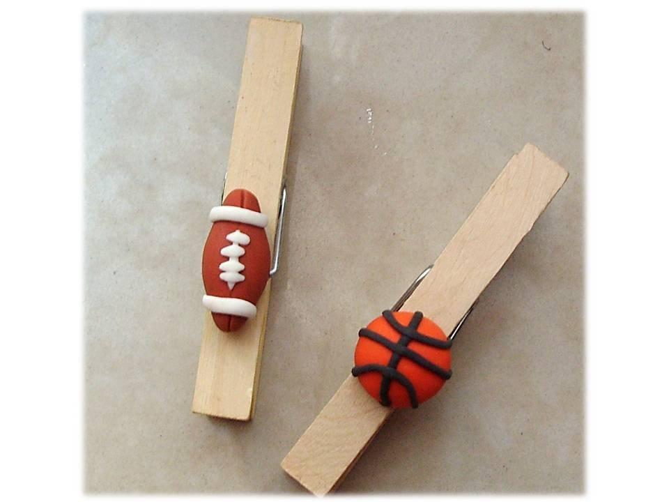 Molletta fermacarta pallone basket-football americano