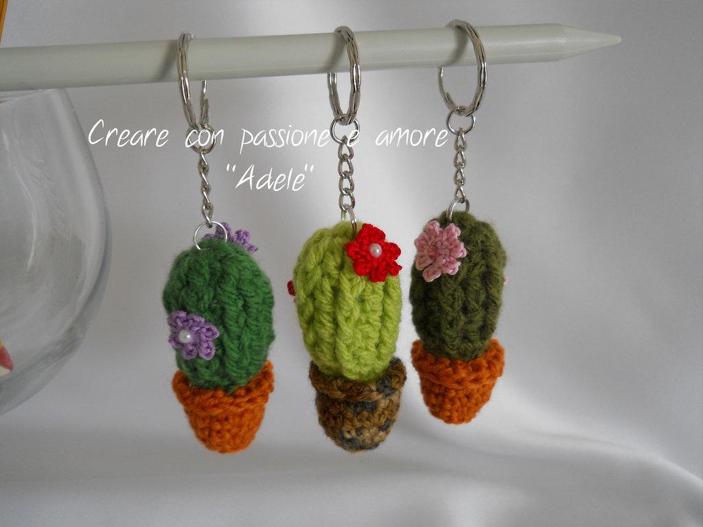 Portachiavi cactus ad uncinetto