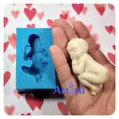 Stampo in silicone neonato che dorme per realizzare decorazioni bomboniere