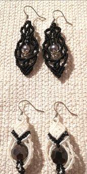 2 orecchini pendenti macramé