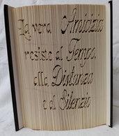 Libro tributo l'amicizia, idea regalo, tecnica book folding