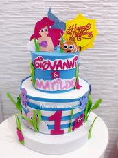 Torta scenografica Ariel e Nemo❤️ Compleanno gemellini