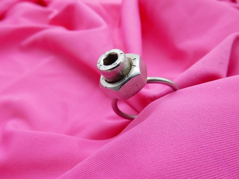 acciaio anello acciaio anello prezioso fatto a mano anello originale acciaio viteria anello eterno regalo anello originale scrap metals
