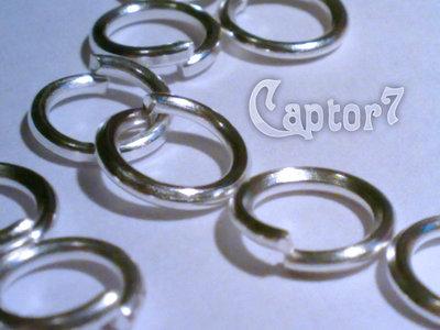 100x ANELLINI COLOR ARGENTO CHIARO stock 6 mm anellino