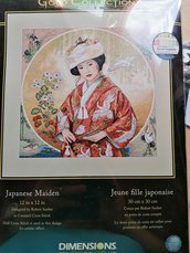 """Japanese Maiden"" kit gold collection della Dimensions"