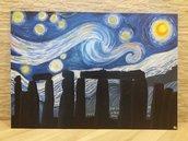 Quadro Stonehenge di notte