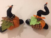 Zucche decorative x festività ,decoro regalo addobbo.