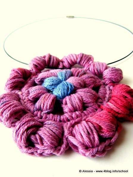 """Collana """" Puff Granny Rose """" - nuova collezione """"HIPPIES"""" di Tramontana Uniquely Couture"""