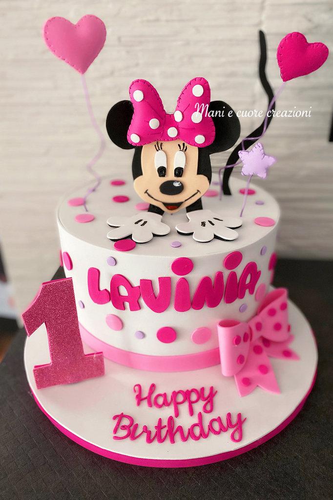 Torta Minnie Lavinia ❤️ 1 anno ❤️scenografica
