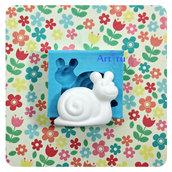 Stampo in silicone lumaca per decorazioni bomboniere battesimo nascita gessetti profumati per resina pasta di mais