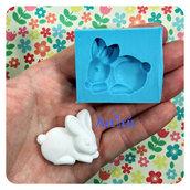 Stampo in silicone coniglio per decorazioni bomboniere battesimo nascita gessetti profumati per resina pasta di mais