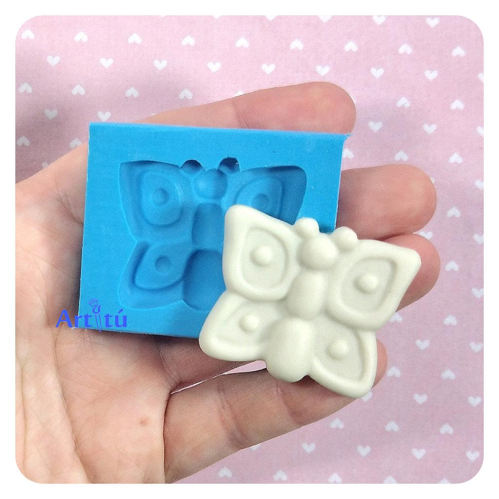 Stampo in silicone farfalla per decorazioni bomboniere battesimo nascita gessetti profumati per resina pasta di mais