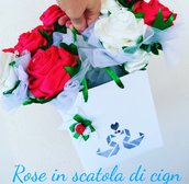 Rose in scatola idea regalo