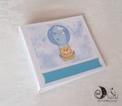 Album portafoto orsetto in mongolfiera idea regalo nascita battesimo primo anno personalizzabile
