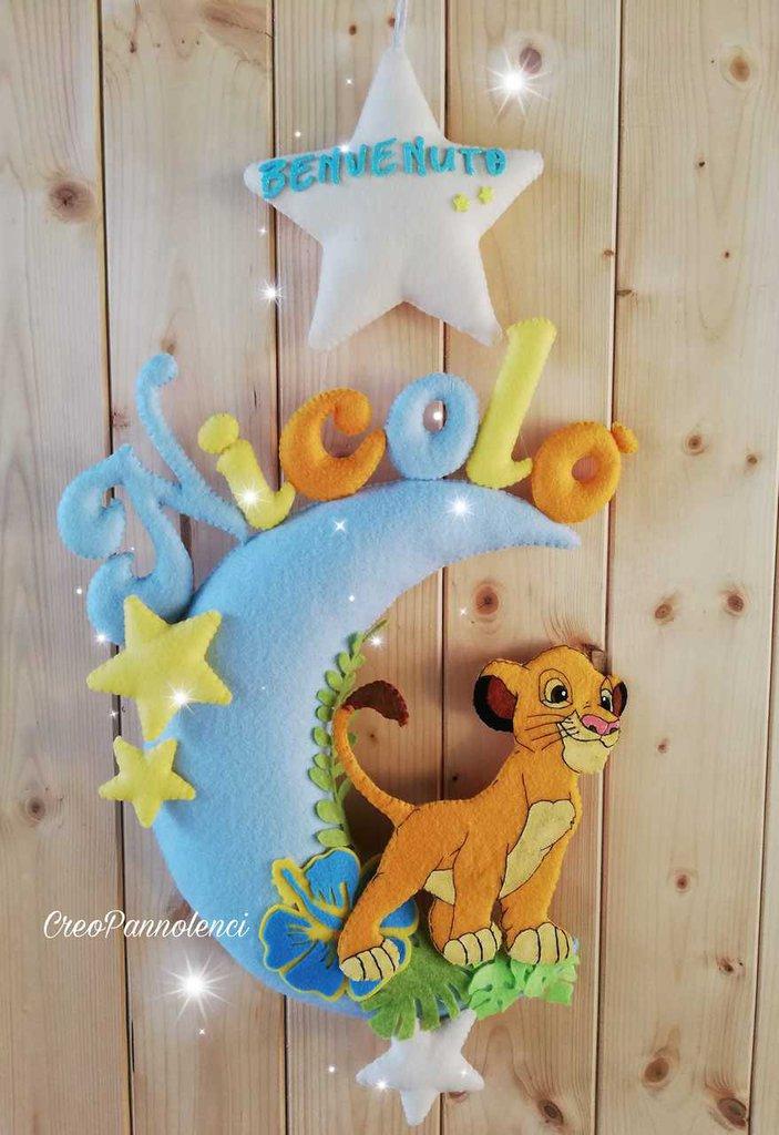 Fiocco nascita Simba - Re Leone