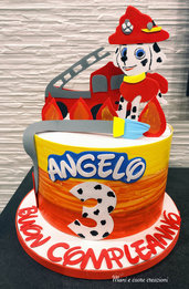 Torta Scenografica Paw Patrol Marshall❤️ Compleanno