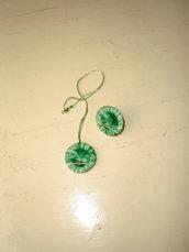 collana ed anello cotone e nastri (n°609)