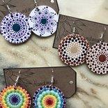 Orecchini di legno decorazione mandala