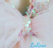 Fiocco nascita rosa cristal