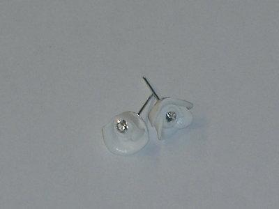 orecchini rosa bianca