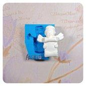 Stampo in silicone angelo con pergamena per bomboniere stampo per decorazioni