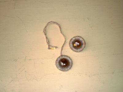 collana ed anello neige con pietra in vetro marrone (n° 606)