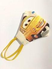 Maschera mascherina mask masks protettiva in cotone lavabile riutilizzabile cars macchinina