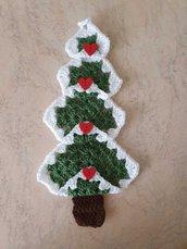 Addobbo natalizio all'uncinetto,  albero di natale fuoriporta o decorazione parete