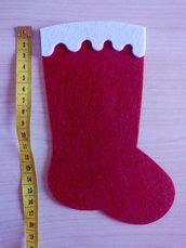 Fustellati calza di Natale feltro gomma crepla