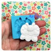 Stampo in silicone farfalla con cuori stampo per gesso stampo per resina stampo per polvere di ceramica stampo per bomboniere stampo per gessetti stampo per calamite stampo per battesimo