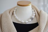 collana perle giganti di Maiorca, bianca estiva, bigiotteria italiana online tizianat regalo mamma