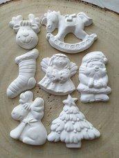 Gessetti natalizi renna Babbo Natale albero di Natale