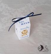 Portaconfetti milk box Le baby Milk Baby Boy battesimo I piccini Leone