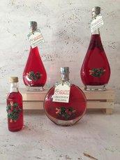 Bomboniera liquore fragolino 100 ml  con oggetto in resina