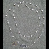Collana argento perle - Necklace silver sterling and pearls