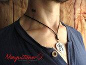 Collana uomo con ciondolo pirati tesoro Atocha,medaglione teschio etnico stile grezzo, moneta rustico, idea regalo lui