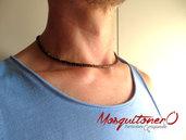 Collana uomo girocollo perline in cocco,stile semplice etnico zen collana mare estate,minimale
